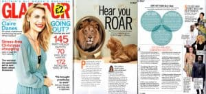 Tam Johnston sharing internal dialogue tips in Glamour Magazine