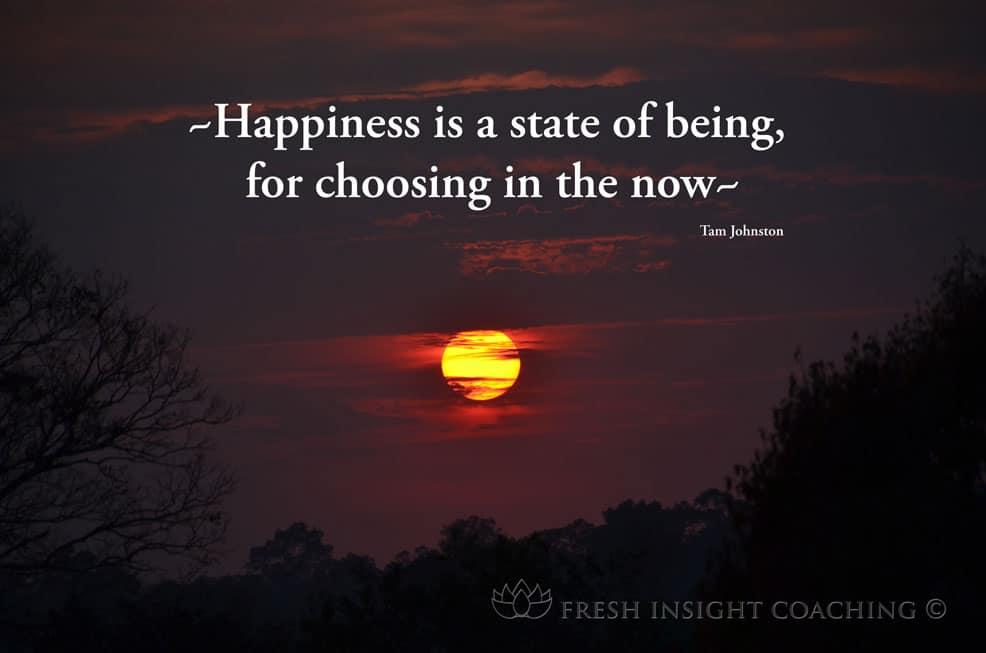 Happiness, it's an inside job!