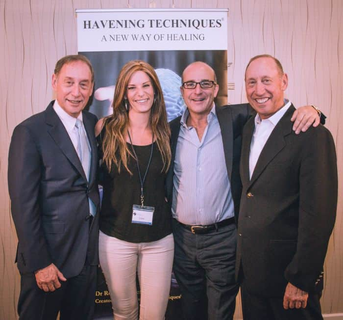 Havening therapist Tam Johnston, with founders and Paul McKenna