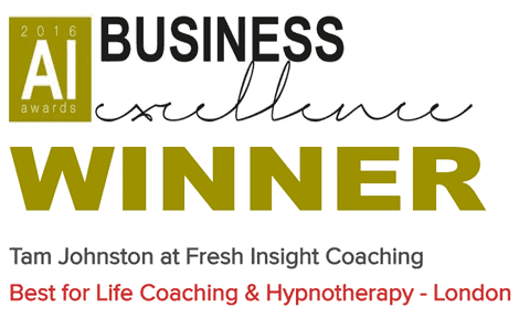 Winner! Best life coach award