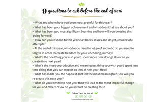 9 end of year questions to ask yourself
