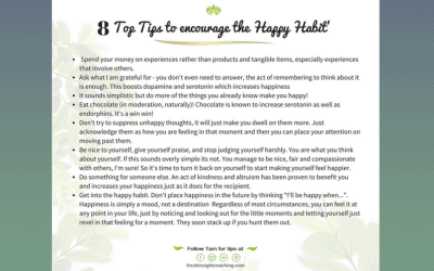 The happy habit – 8 top tips
