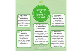 Quick tips series – keeping to your goals